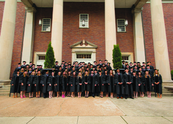 Law students on hooding day.