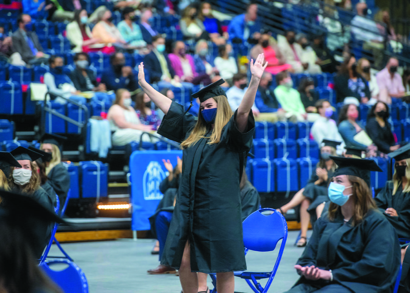 Graduation in Curb Event Center at Belmont University in Nashville, Tennessee, April 23, 2021.