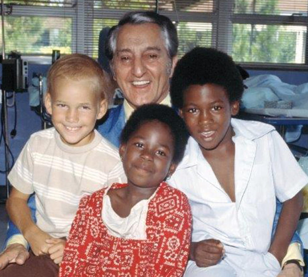 Danny Thomas with children at St. Jude