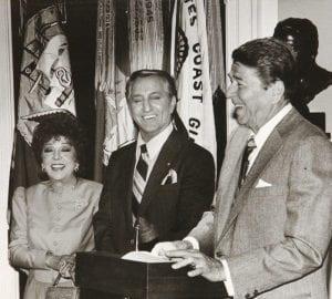 Danny Thomas with President Ronald Regan