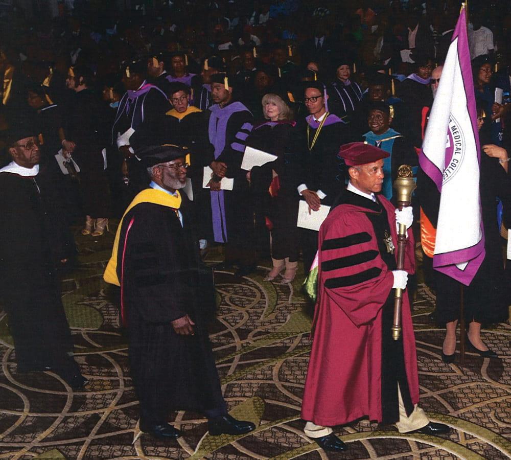 David Satcher at a Meharry Medical College graduation