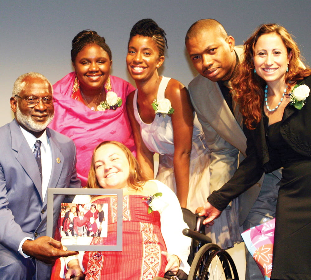 David Satcher with scholarship recipients