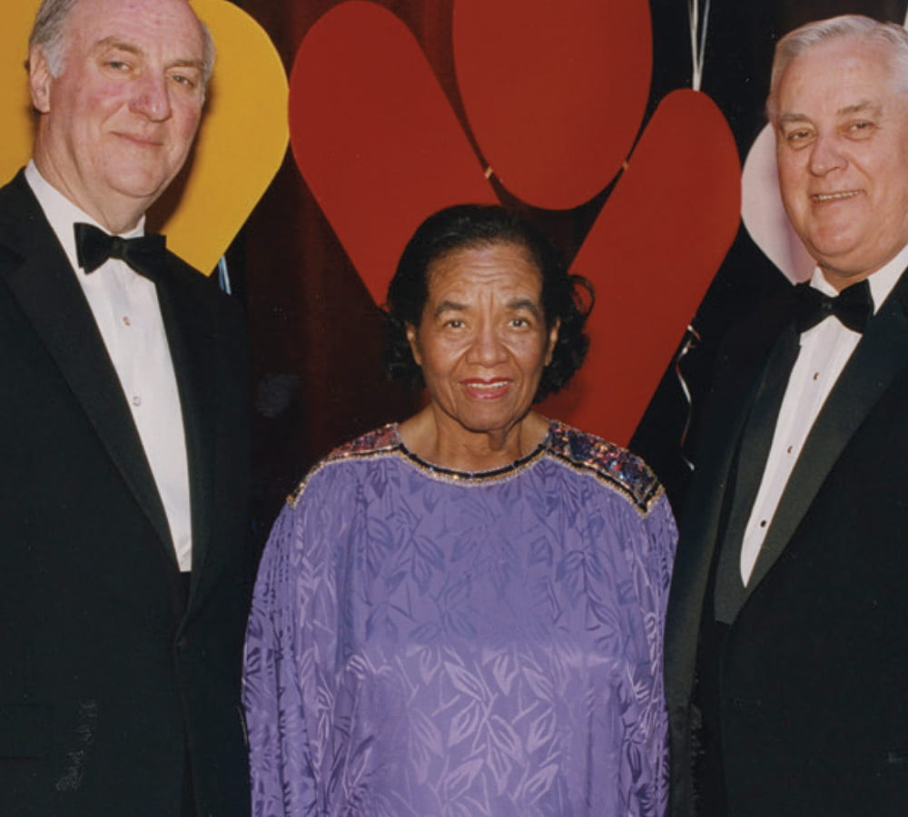 Dorothy Brown poses with two colleagues at an event