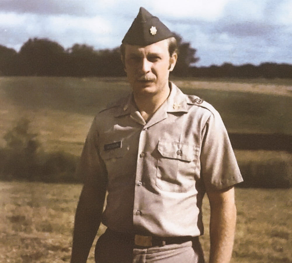 Young Harry Jacobson in his military uniform