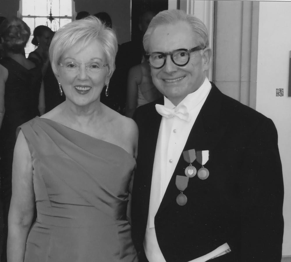 Jack Bovender with his wife