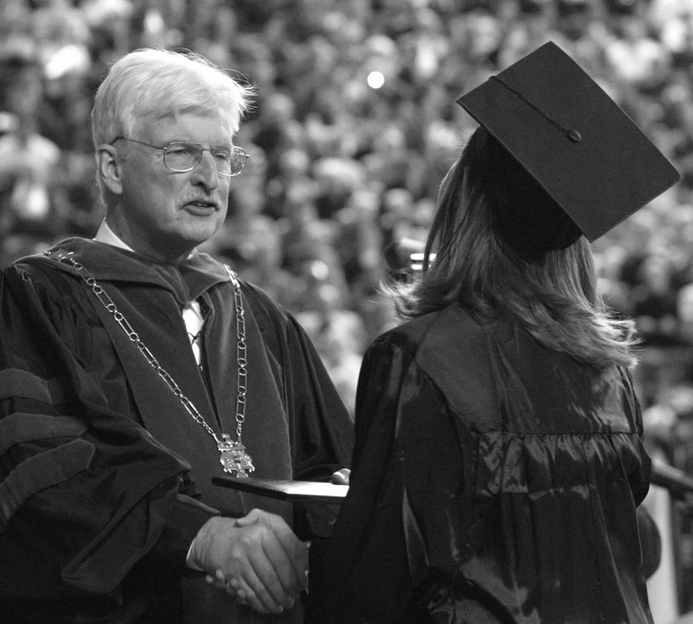 Paul Stanton at a graduation ceremony