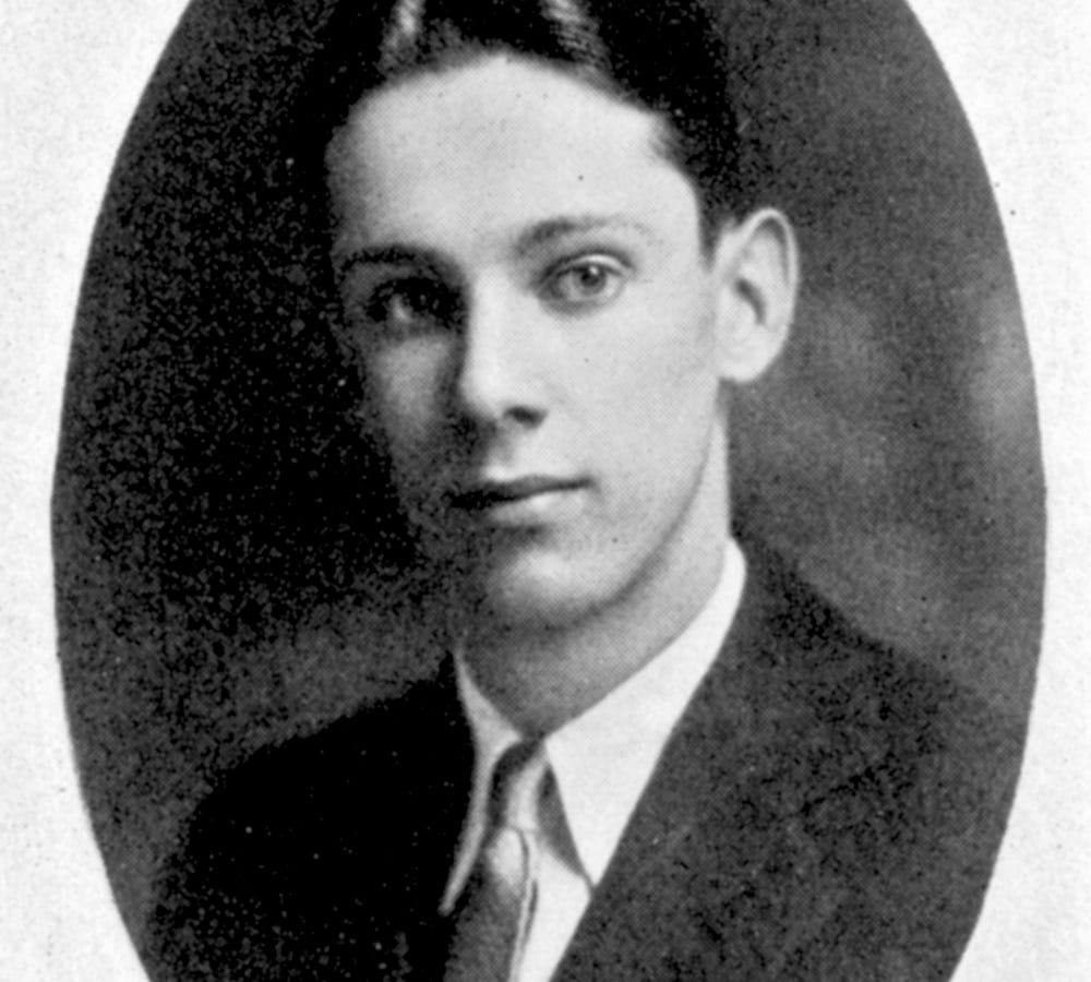 A photo of young Stanford Moore