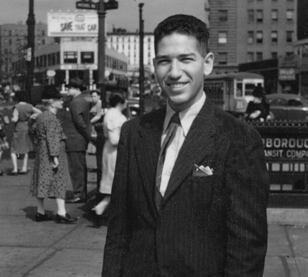 Young Stanley Cohen in Brooklyn
