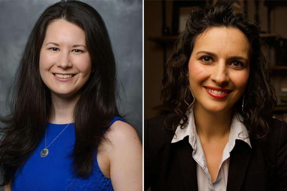 Amy Crook and Sarah Cates