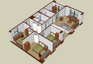 George Street 4 Bedroom Isometric