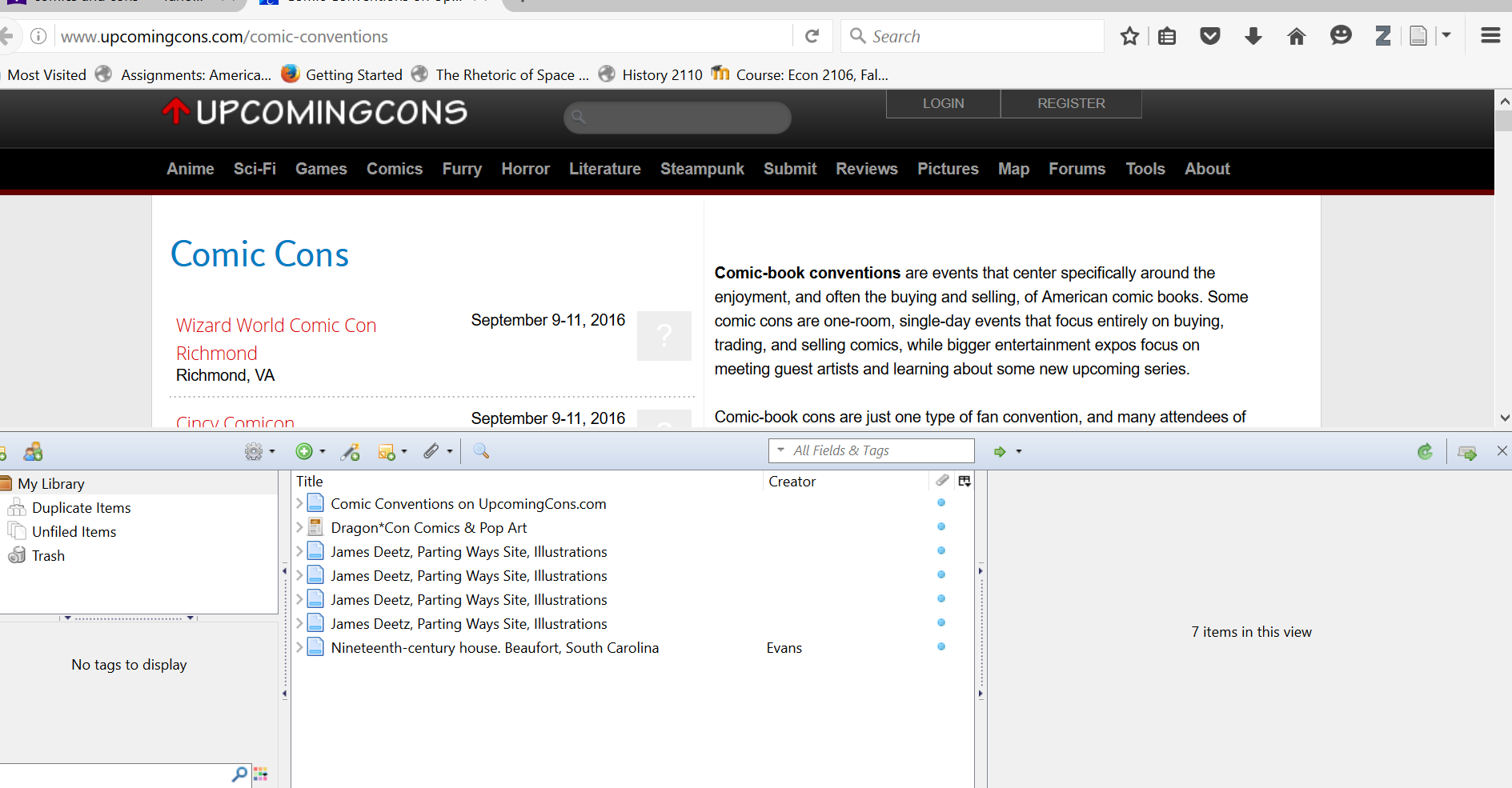 This Is A Picture Showing The Zotero Posts I Made Some Of The Posts Were  Relating