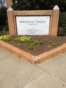 Morehouse College sign in front of campus
