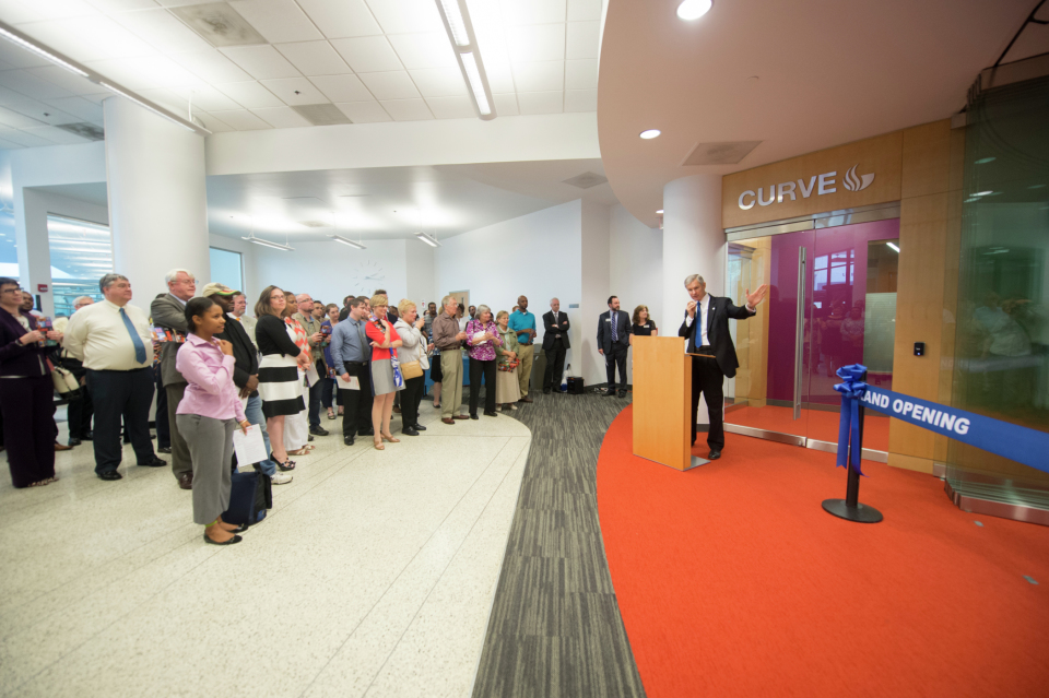 President Becker delivers opening remarks