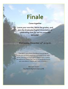 Downloadable PDF Flyer for Finale event.