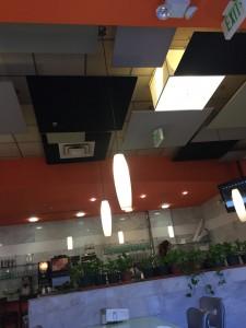 ceilings of Landmark Diner
