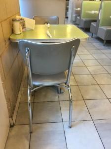 two-top table in Landmark Diner