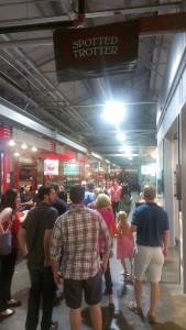Crowded walkway in Krog Street Market