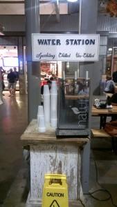 A free water station inside Krog Street Market