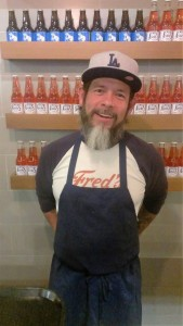 Slean, an employee at Fred's Meat & Bread