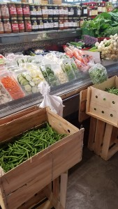 One of the many stands containing fresh food at the Sweet Auburn Curb Makret