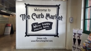 One of the many signs welcoming you to the market
