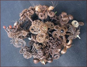 This wreath has been passed down in the Hamlin family for generations. Photo Source: Tom Cooper