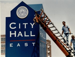 East City Hall, 1993. AJCP142-027c, Atlanta Journal-Constitution Photographic Archive. Special Collections and Archives, Georgia State University Library