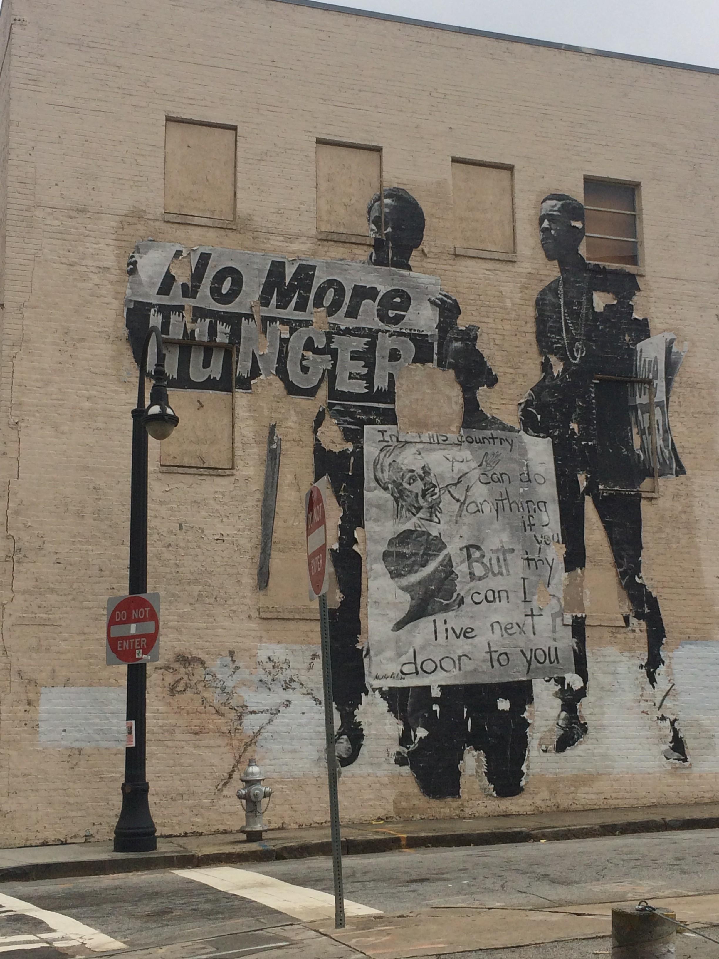 Mural on the corner of Auburn Avenue and Hilliard Street.
