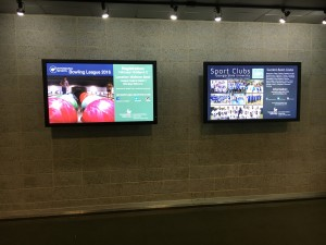 GSU Recreation Center Digital Announcment Boards