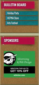 Bulletin Board and Sponsors