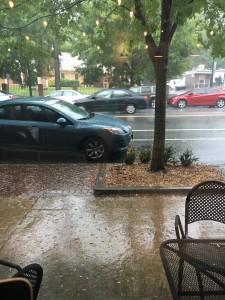 Rain in Kirkwood neighborhood of Atlanta