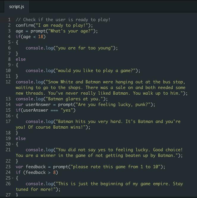 Code Camp: Javascript – Session 3