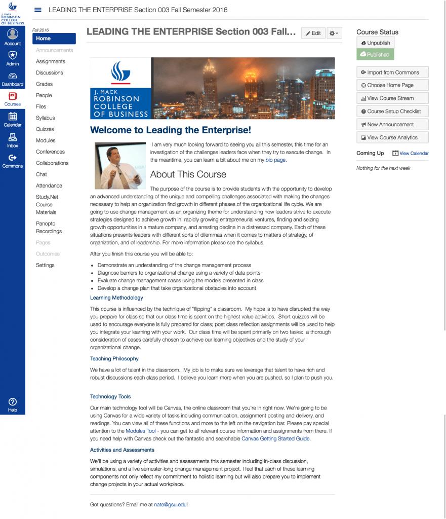 Nate Bennett's Leading the Enterprise Homepage