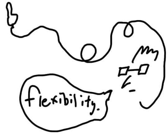 Flexibility.
