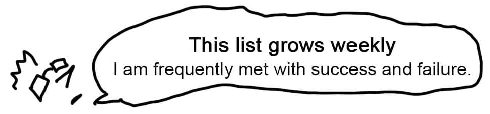 This list grows