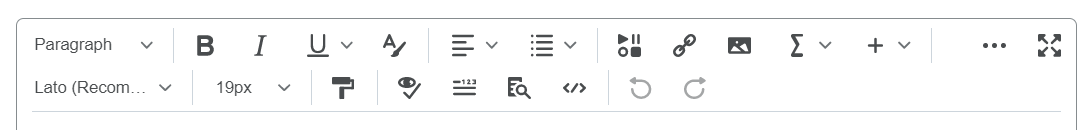 New Content Editor Toolbar