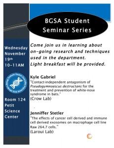 2014.11 BGSA Student Seminar Flyer