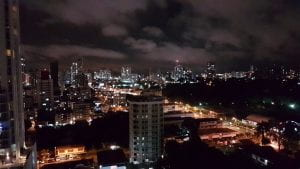 City lights in the night