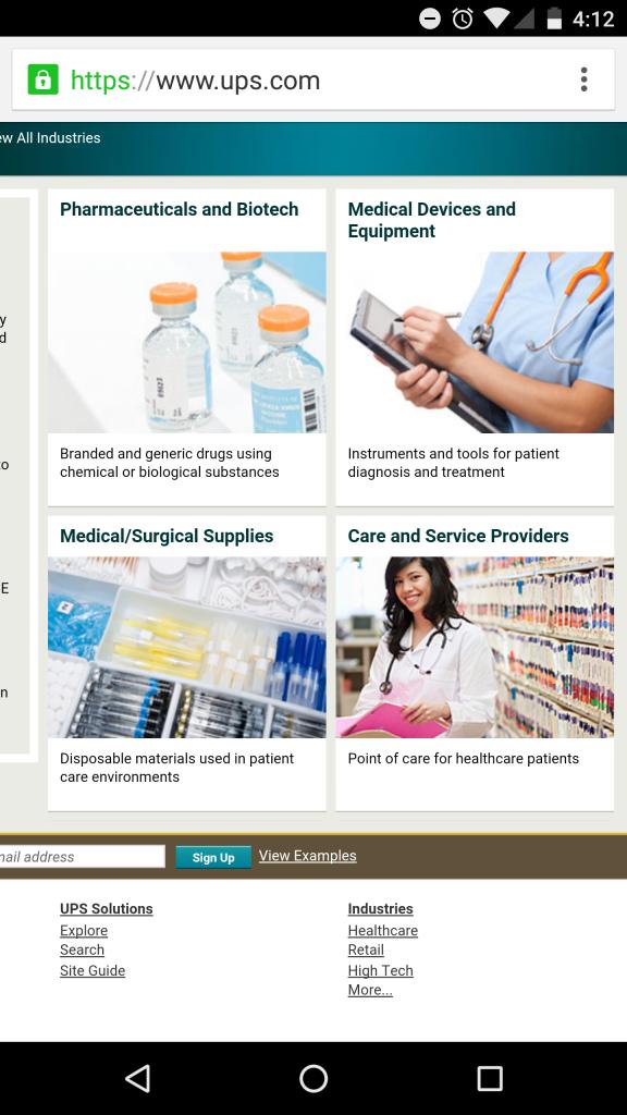 UPS Website Diversity