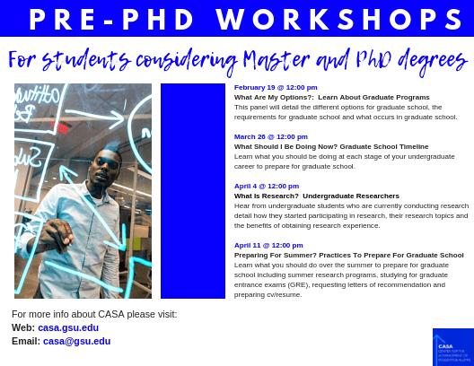 2019 Pre-PhD Events