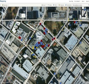 Example of a GIS mapping project on the Georgia State University campus.
