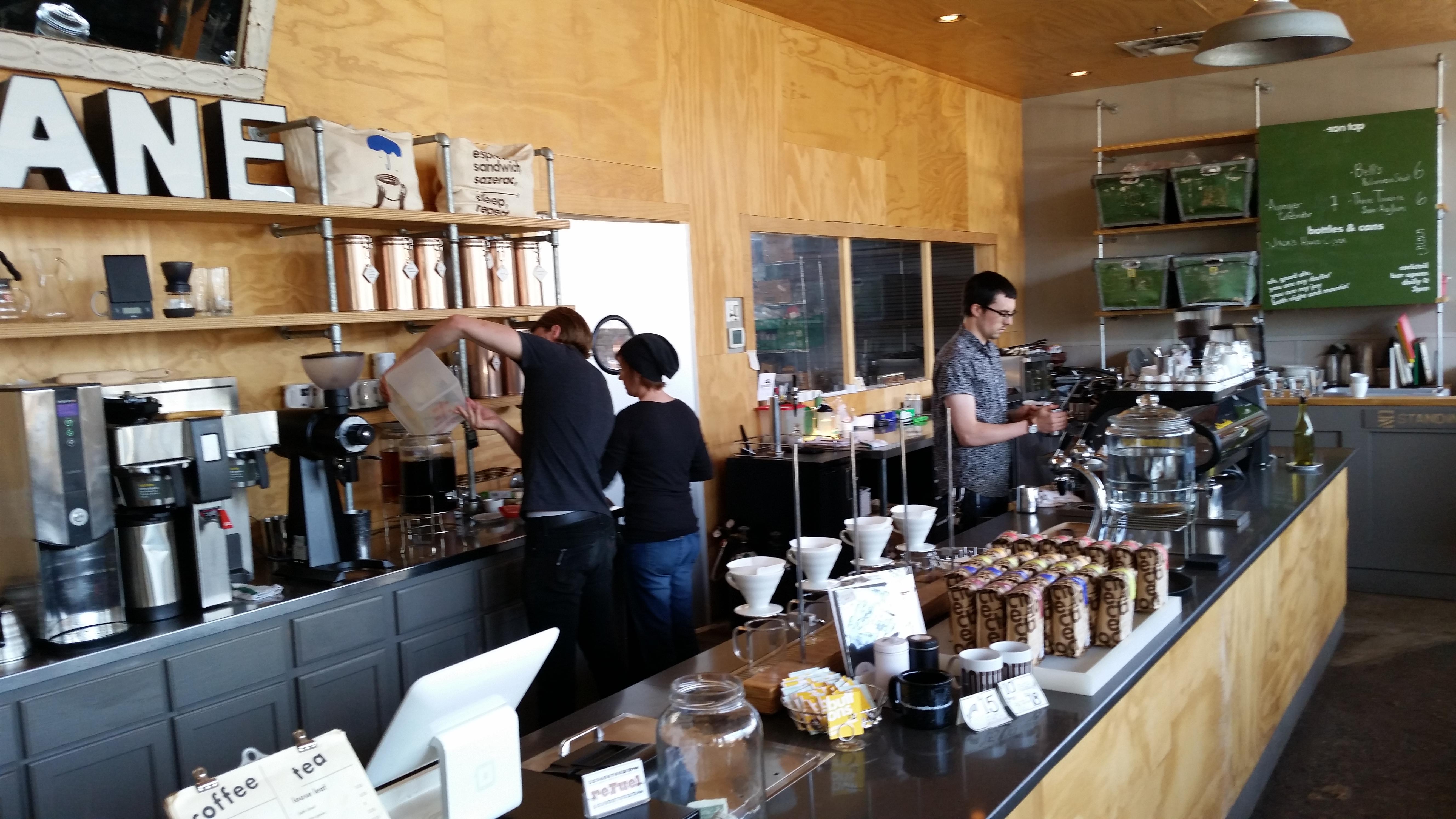 Where all the coffee magic happens.