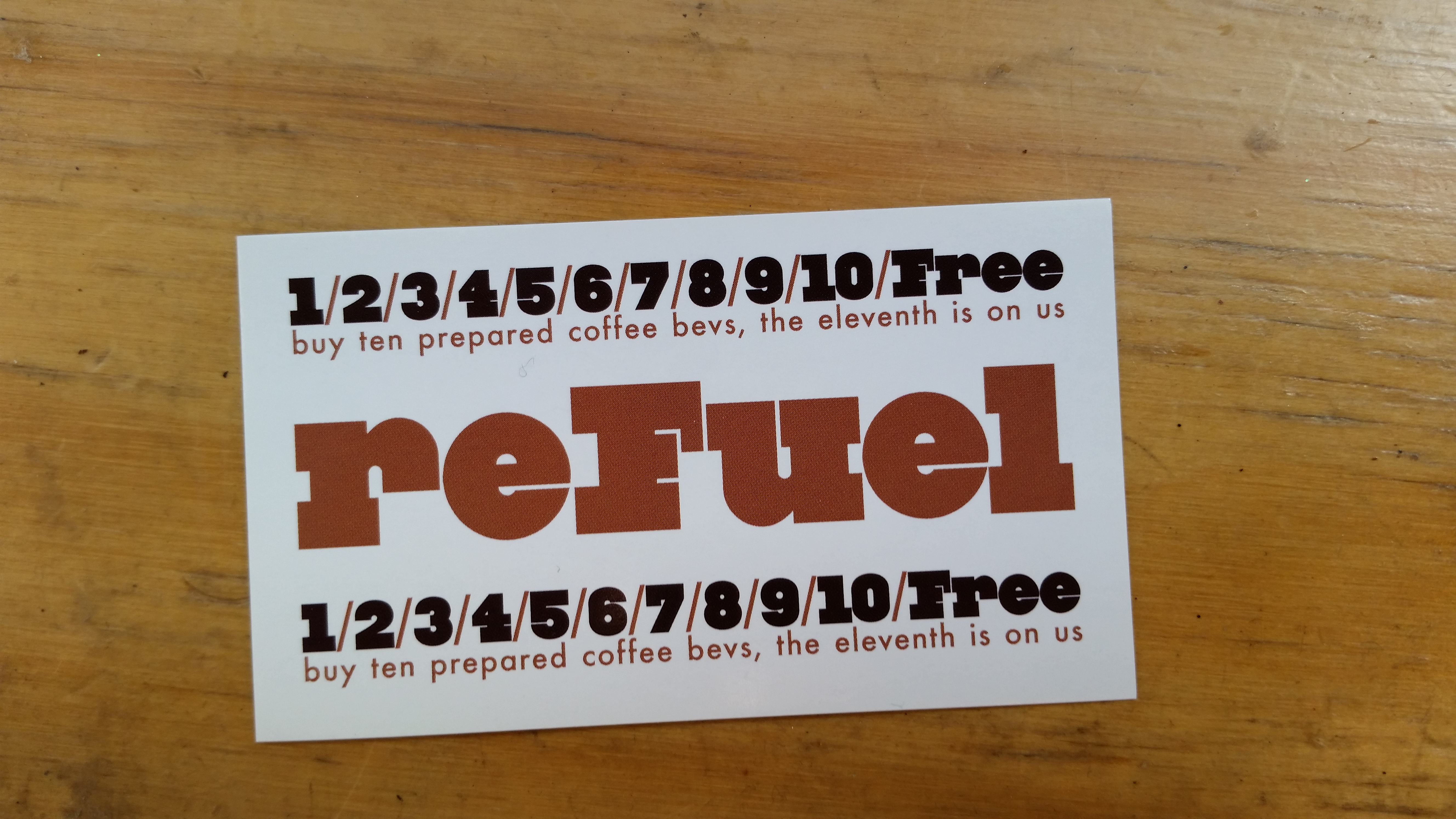 """Creative use of wording. """"Refuel"""" at a place called Octane."""