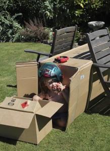 Kids & Cardboard Box 5