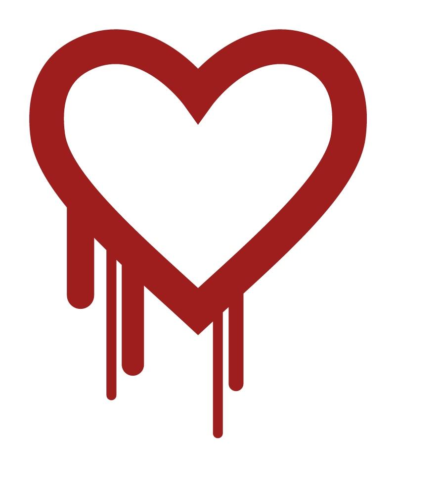 logo for heartbleed internet vulnerability