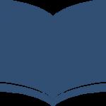 icon of a book, dark blue
