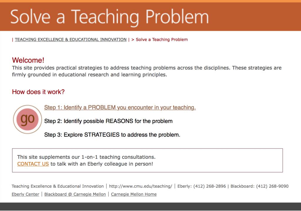 Solve a Teaching Problem