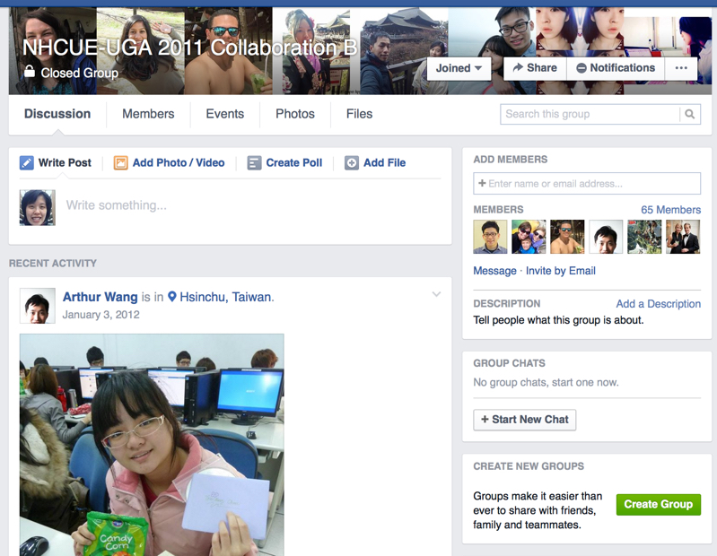 Figure 3. Project Group in Facebook