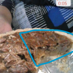 Clarisketch screenshot: Pie with wedge drawn on it.