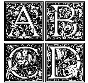 decorative. ornate letters